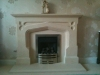 Bathstone fireplace by Hawk Masonry