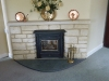 Guillotined random stone firesurround