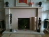 Hawk Masonry Bathstone fireplace