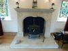 Marnhull stone fireplace designed by Mewstone masonry