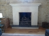 Monolithic Marnhull fireplace designed by T Reeve and masonry by H Jonas