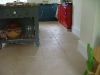 Honed and chipped flooring