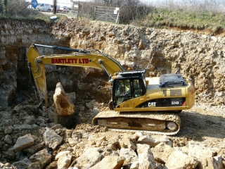 Bartlett contractors extracting block at the quarry