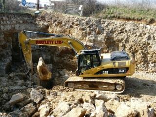 Bartlett contractors extracting block at the quarry