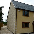 New build in Stour Row using sawn and split on the gable ends